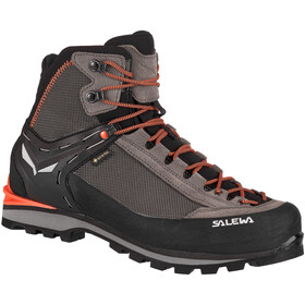 SALEWA Crow GTX Chaussures Homme, wallnut/fluo orange